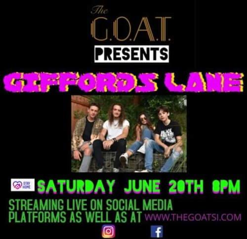 GIFFORDS LANE<BR>STREAMING LIVE VIDEO<BR><BR>SATURDAY, JUNE 20TH, 2020<BR><BR>STARTS AT 8 PM