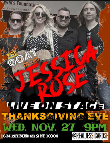 JESSICA ROSE<BR><BR>WEDNESDAY, NOVEMBER 27TH, 2019<BR><BR>FOR RESERVATIONS<BR>CALL 929-308-0401<BR><BR>TIME: 9PM