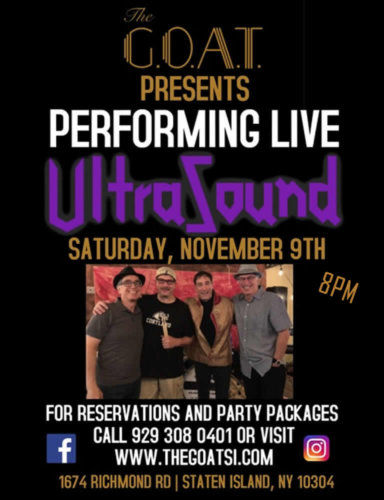 ULTRASOUND<BR><BR>SATURDAY, NOVEMBER 9TH, 2019<BR><BR>FOR RESERVATIONS<BR>AND PARTY PACKAGES<BR>CALL 929-308-0401<BR><BR>TIME: 8PM